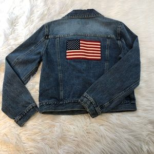 Vintage Ralph Lauren Polo Jeans Denim Flag Jacket